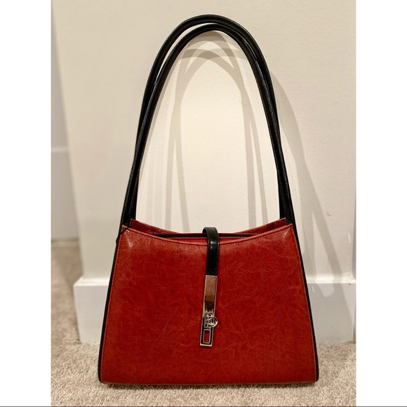 Brick colored Leather Handbag